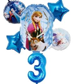 Frozen ballonset  3 jaar (6-delig)