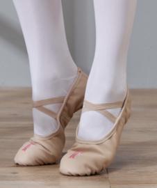 Balletschoen beige strik