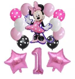 Minnie Mouse ballonnen 1 jaar (14-delig)