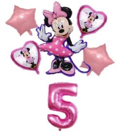 Minnie Mouse ballonnen 5 jaar (6-delig)