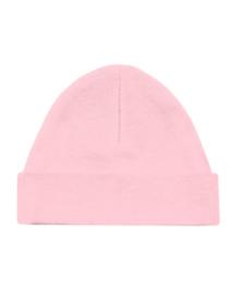 Babymutsje roze + eigen naam