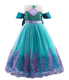 Zeemeermin jurk lang met diadeem