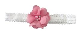 Haarband bloem klein, dusty pink