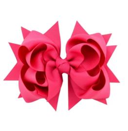 Haarclip strik pink