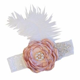 Haarband  Vintage/kant/vintage paars