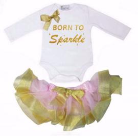 Born To Sparkle longsleeve goud