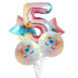 Folie Ballon Unicorn 5 jaar