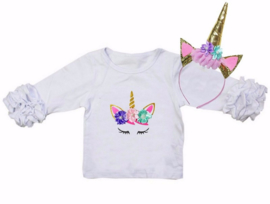 Unicorn T-shirt ogen pastel