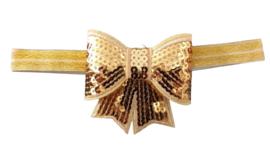 Haarband strik groot, goud