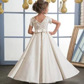 Elegante jurk creme/wit