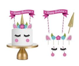 Unicorn taart versiering
