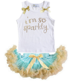 I'm So Sparkly mint + top