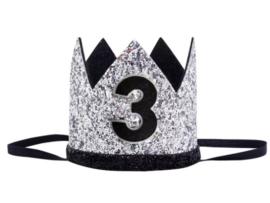 Kroon zwart/zilver 3 jaar