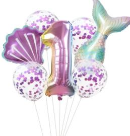 Zeemeermin ballonnenset 1 jaar
