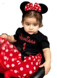 Minnie Mouse jurk (2-delig) + eigen naam