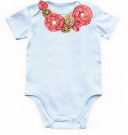 Baby shirt blosjesroze/champagne