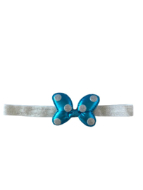 Minnie Mouse haarband blauw/zilver