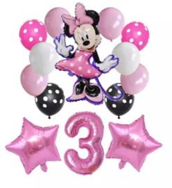 Minnie Mouse ballonnen 3 jaar (14-delig)