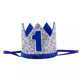 Kroon blauw/zilver 1 jaar
