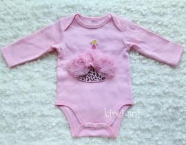 Baby romper roze Cupcake luipaard roze lange mouw
