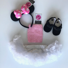 Babyset wit-roze+diadeem (4 delig)