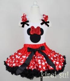 Minnie Mouse rood/zwart top
