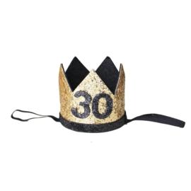 Haarband kroon 30 jaar goud