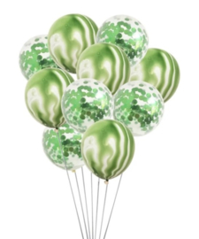 Ballon Dino en confetti