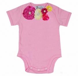 Baby shirt roze/regenboog