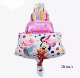 Minnie Mouse taart ballon