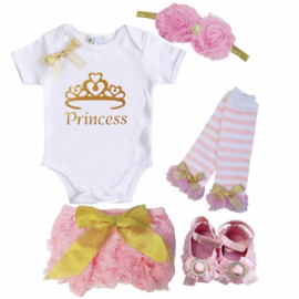 Princess set roze (5-delig)