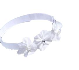 Haarband met witte bloemen