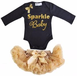Sparkle Baby longsleeve zwart