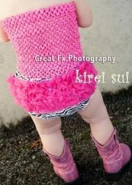 Luierbroekje/bloomer zebra pink