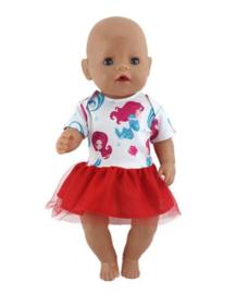 zeemeermin poppen jurkje rood