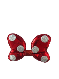 Minnie Mouse haarclip rood/zilver
