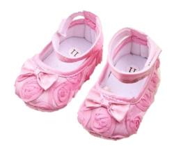 Babyschoen ROZE roosjes ballet