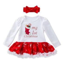 Babyjurk My first Christmas  (2-delig)