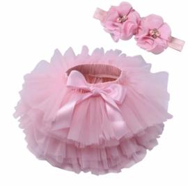 Luxe tutu Roze + haarband
