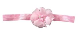 Haarband bloem klein, roze