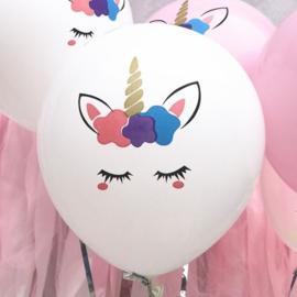 Unicorn Ballonnen - WIT - 5 stuks