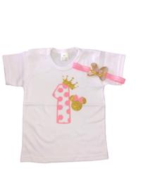 Minnie Mouse shirt stippen 1, (2-delig)