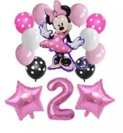 Minnie Mouse ballonnen 2 jaar (14-delig)