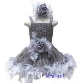 Luxe riem handgemaakt grijs met veren