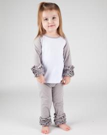 Legging grijs ruffles