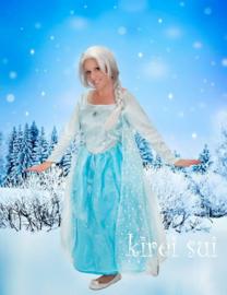 Frozen prinses Elsa jurk volwassenen Deluxe - One Size