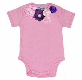 Baby shirt roze/paars