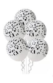 Ballon luipaard wit, 5 stuks