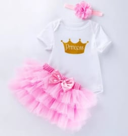 Baby feestjurk Princess (3-delig)