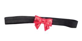 Haarband strik klein, zwart/goud